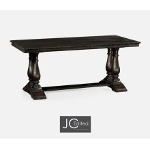 "71"" Dark Ale Rectangular Fixed Top Dining Table"