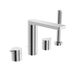 Riva 4-hole roman tub trim kit, chrome Product Image