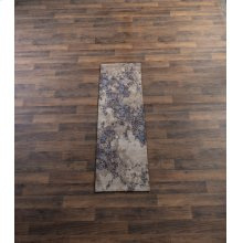 Tan & Navy Multi Medallion 2' x 6' Jacquard Rug