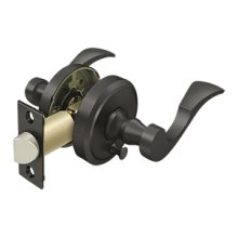 Lacovia Lever Privacy, Left Hand - Oil-rubbed Bronze