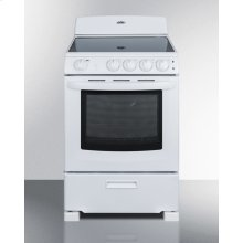 """24"""" Wide Smooth-top Electric Range In White, With Lower Storage Drawer and Oven Window; Available Winter 2018"""