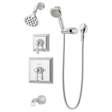 Symmons Canterbury® Tub/Shower/Hand Shower System - Polished Chrome