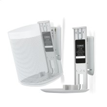 White- Pair of secure and adjustable wall mounts.