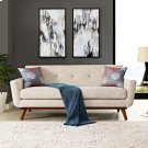 Engage Upholstered Fabric Loveseat in Beige Product Image