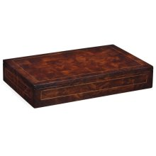 Placemats box with patchwork crotch mahogany veneer
