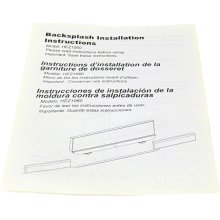 Installation Manual For backsplash 00689527