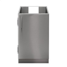 """OUTDOOR KITCHEN CABINETS IN STAINLESS STEEL  PURE 24"""" Sink Base Cabinet 1 Door Right Hinges"""