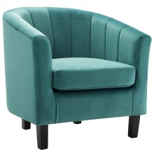 Prospect Channel Tufted Performance Velvet Armchair in Teal