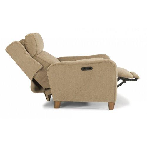 Poet Fabric Power High-Leg Recliner with Power Headrest