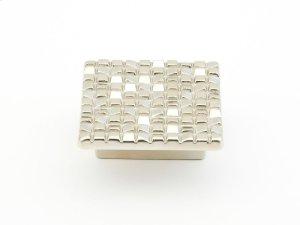"Mosaic, Square Knob, 1-7/8"" diameter, Satin Nickel finish Product Image"