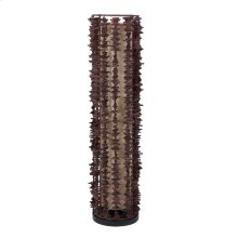 (LS) Harold decorative floor lamp -S-w/rattan fringe (12x12x38)