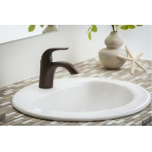 Tumbled Bronze While Supplies Last - Viper Single Handle Lavatory Faucet Single Hole Mount W/ Metal Touch Down Drain 1.2GPM