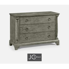 Large Antique Dark Grey Chest of Drawers