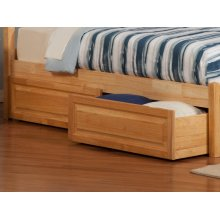 Two Raised Panel Bed Drawers Twin/Full in Natural