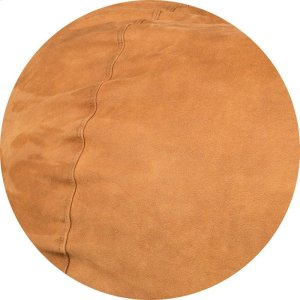 Cover for Pillow Pod or Footstool - Faux Leather - Cognac Product Image