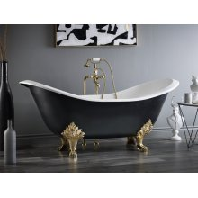 REGENCY Cast Iron Footed Bath - With Lion Feet