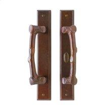 "Rectangular Patio Sliding Door Set - 1 3/4"" x 11"" Silicon Bronze Brushed"