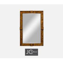 Country Walnut Rectangular Mirror