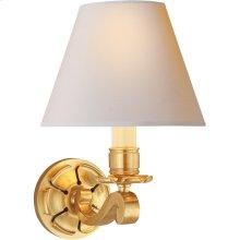 Visual Comfort AH2004NB-NP Alexa Hampton Bing 1 Light 8 inch Natural Brass Decorative Wall Light