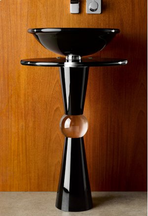 Cono Pedestal - Shown with 230 Basin and Black Countertop Product Image