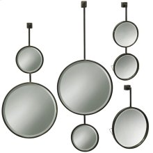 Set of 4 Droplet Metal Beveled Mirrors