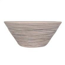 "Fango 14"" Eliptical Ceramic Basin - Gray"