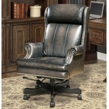 DC#105 Smoke Wipe Leather Desk Chair