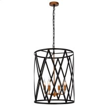ARLO PENDANT  Black and Vintage Brass Finished Metal
