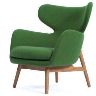 Devana Fabric Accent Chair Natural Legs, Forest Green