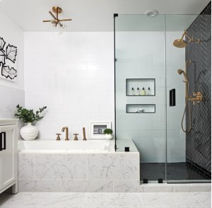 Roman Tub Faucet With Handshower - Less Handles Product Image