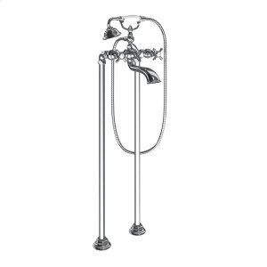Weymouth chrome two-handle tub filler includes hand shower Product Image