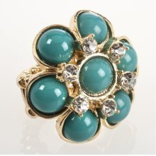 BTQ Blue Flower Ring