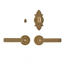 """Briggs Privacy Set - 2 1/2"""" Round Silicon Bronze Brushed"""