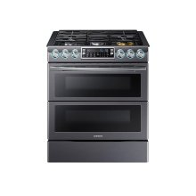 5.8 cu. ft. Slide-In Gas Range with Flex Duo & Dual Door in Black Stainless Steel
