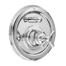 Randall Pressure Balanced Tub/Shower Valve Trim with Cross Handle - Polished Chrome