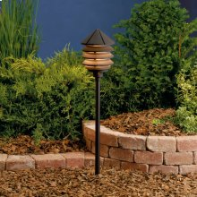 Three Tier 12V Path Light Textured Architectural Bronze