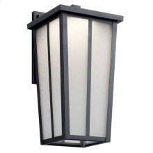 """Amber Valley 15"""" LED Wall Light Textured Black"""