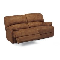 Dylan Leather Two-Cushion Power Chaise Reclining Sofa Product Image
