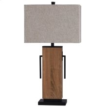 Brigg 32in Wooden Base & Metal Accent Table Lamp 100 Watts 3-Way