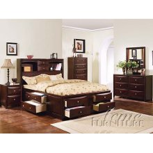 Espresso Finish Twin Size Bed Collection