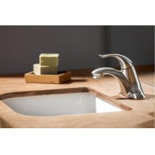 Brushed Nickel Viper Single Handle Lavatory Faucet Less Drain 1.2GPM