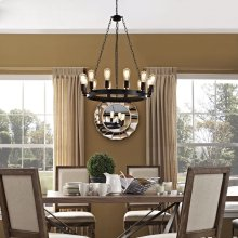 "Teleport 29"" Chandelier in Brown"