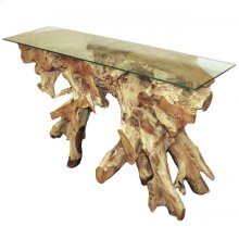 Glass Top Console