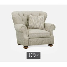 """46"""" Casual Golden Ale Sofa Chair, Upholstered in Marker"""