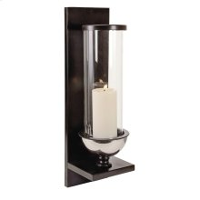 Silver Metal and Glass Wall Sconce