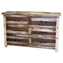 Slatted Wood Dresser