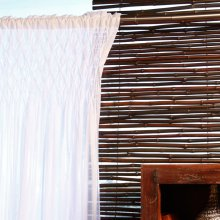 Sheer White Smocked Curtain 42x108 100% Cotton Curtains