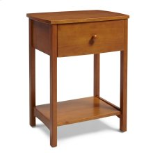 NSRO Rake Style Nightstand in Golden Oak Finish