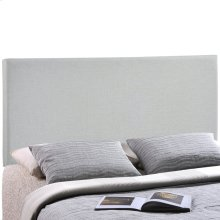 Region King Upholstered Fabric Headboard in Sky Gray