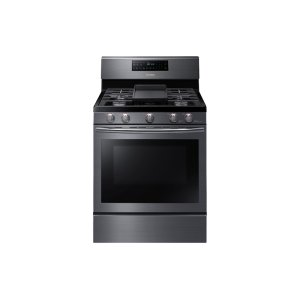 5.8 cu. ft. Freestanding Gas Range with Convection in Black Stainless Steel Product Image